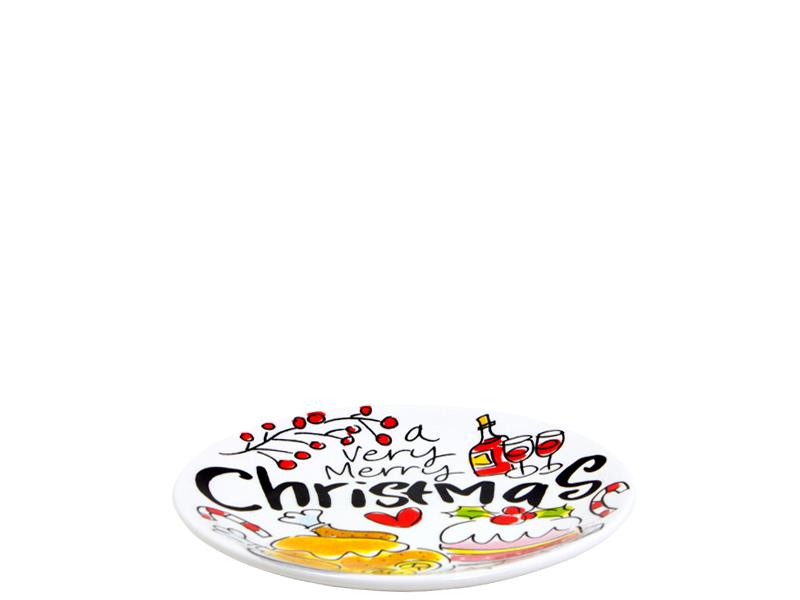 Blond Amsterdam bordje 12cm Merry Kerst 2018