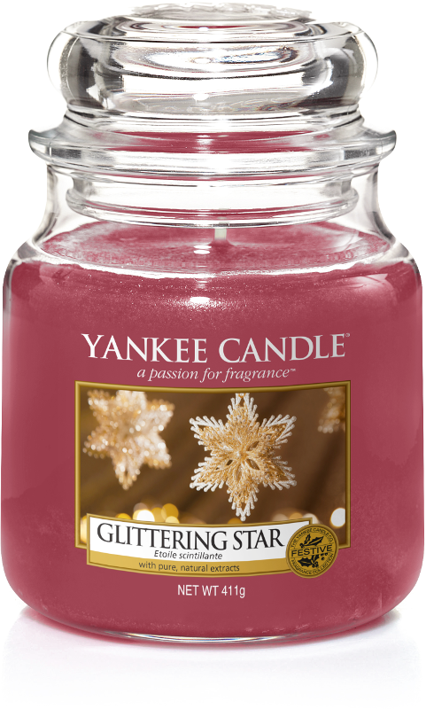 yankee candle-glittering star-medium jar-52236
