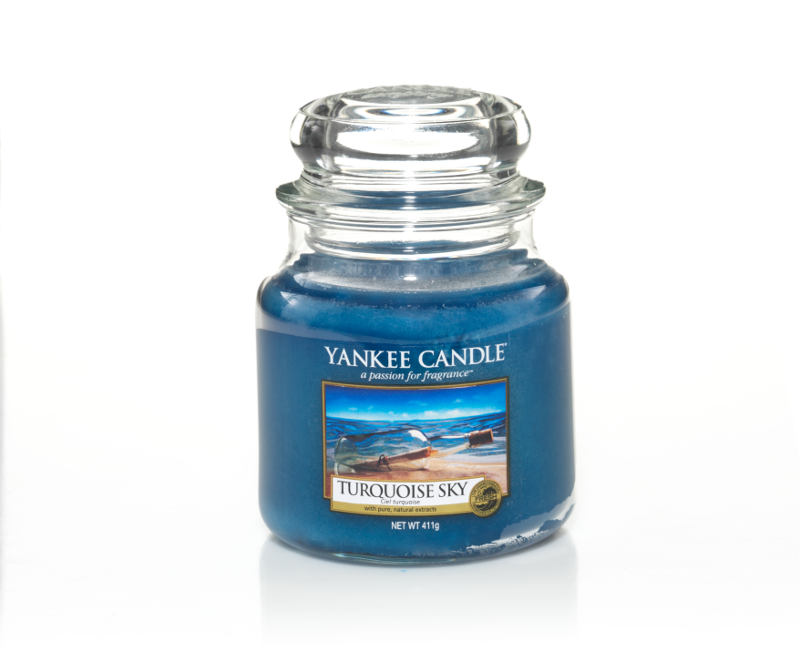 yankee candle-turquoise sky-medium jar-52209