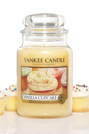 yankee candle-vanilla cupcake