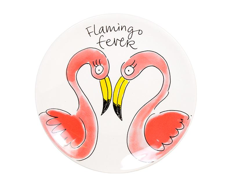 200610-Blond Amsterdam Paradise Flamingo bord 18cm