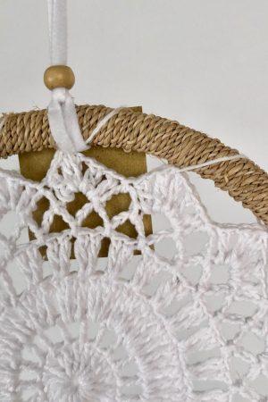 Dromenvanger zonder kleintjes, gehaakt in ring met touw Ø16cm