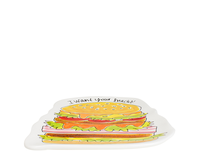 Blond Amsterdam Snack 3D bord Hamburger