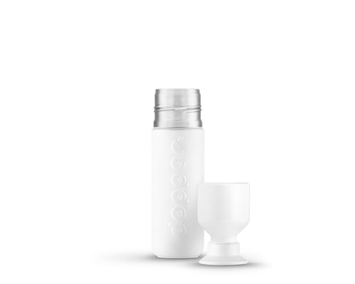 Dopper isoleerfles wavy white 350ml