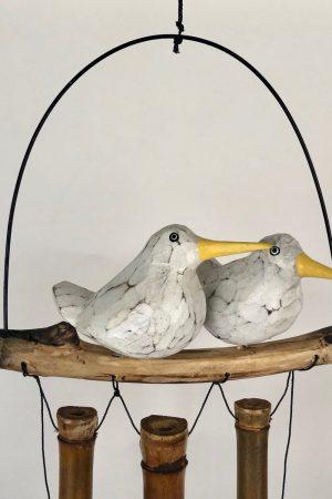 Bamboe windgong 2 vogels op stok 52410