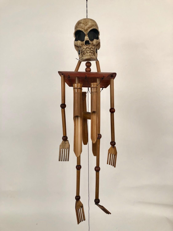 Bamboe windgong skelet naturel 51357