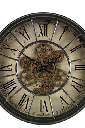 Klok rond Grant S grijs