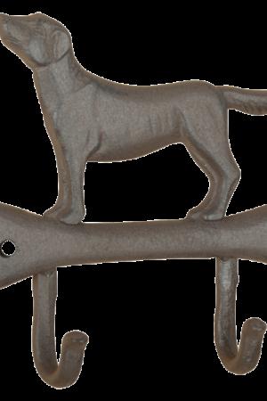Haak hond op bot gietijzer