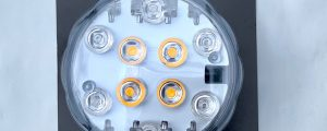 Lamp LED kleur flash & flame met afstandbediening
